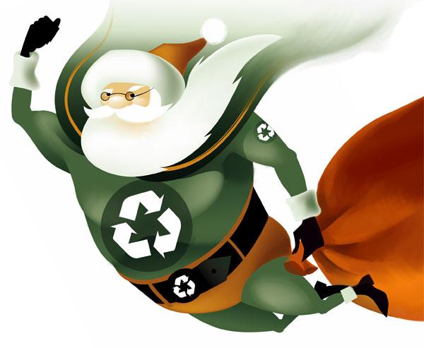 Pere-Noel-ecolo-green