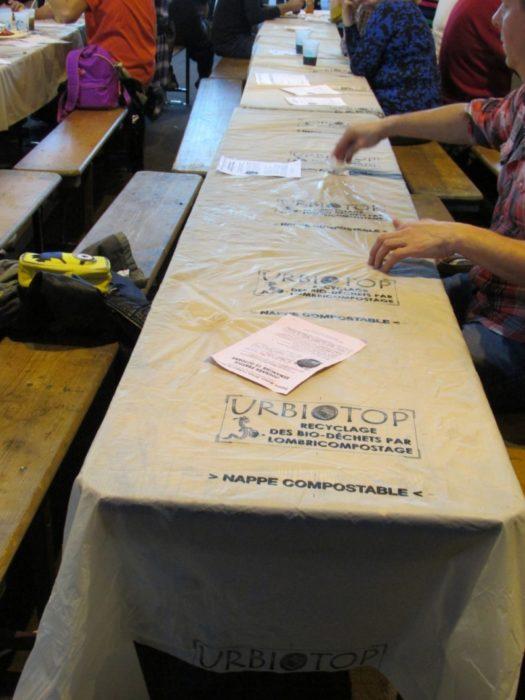 Une nappe compostable